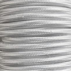 cable decorativo blanco brillo
