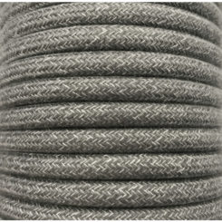 cable decorativo gris