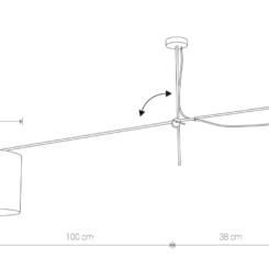 medidas lámpara punto desplazado
