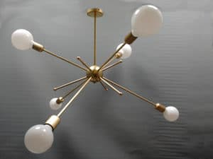 lámpara sputnik con bombilla