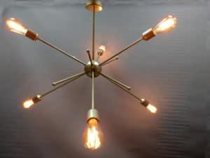 sputnik 6 luces + bombilla