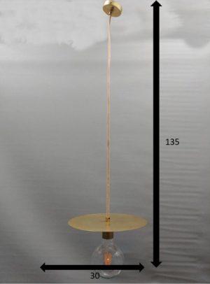 medidas suspensión de latón con bombilla